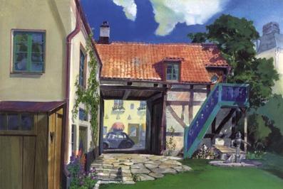 مصدر الصور http://floobynooby.blogspot.com/2011/07/art-of-studio-ghibli-part-3.html